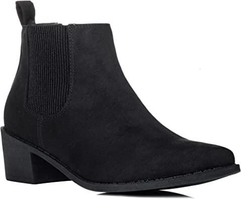 Wide Fit Block Heel Chelsea Ankle Boots