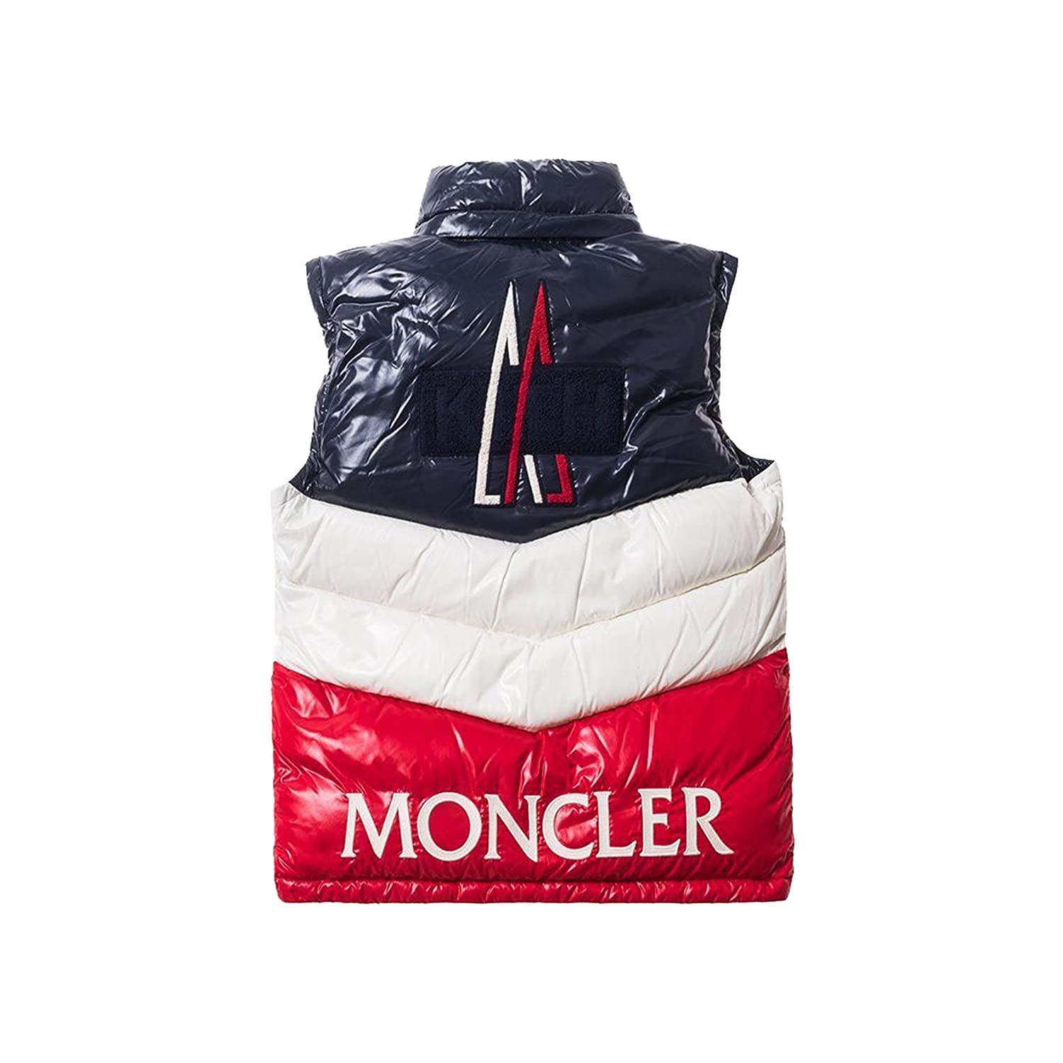 47aad207d09d Moncler kith X PELAT Men s Navy Red Down Vest SZ 3 US M at Amazon ...