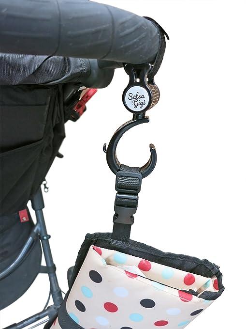 Amazon.com: Remoción..... Stroller Bag Ganchos 2 unidades ...