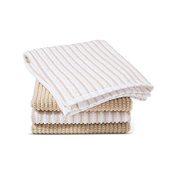 Amazon Com Room Essentials Tan Stripe Bar Mop Towels Set Of 4 Baby
