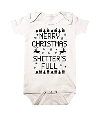 f775c0891 Amazon.com: Merry Christmas Shitters Full Baby One-piece: Clothing