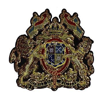 1 x gold Pailletten Flagge Löwe Stoff Patches Stickerei Aufnäher ...