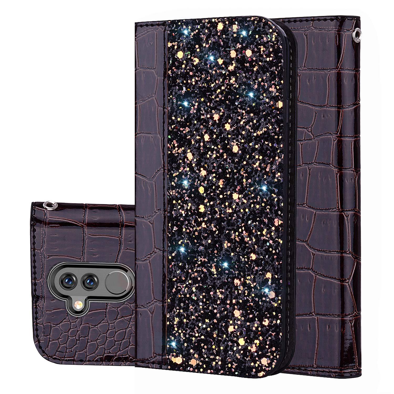 Huawei Mate 20 Lite Handyhü lle [Premium Leder] [Standfunktion] [Kartenfach] [Magnetverschluss] PU Schlanke Leder Brieftasche fü r Huawei Mate 20 Lite (1) Laoke