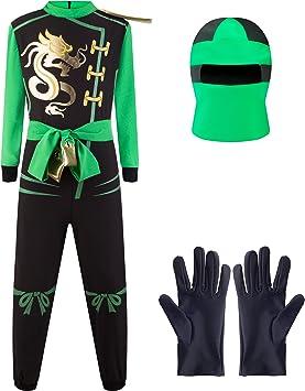 Katara Disfraz de Ninja Dragón para Niño Carnaval, Cosplay, color ...