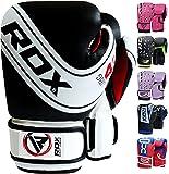 RDX Maya Hide Leather 4oz, 6oz Kids Boxing Gloves Junior Punch Bag MMA Training Muay Thai Mitts