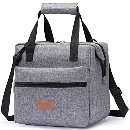 fc5ae728b6f384 Amazon.com: Lifewit Lunch Bags Lunchbox Adult Insulated for Women,  Water-Resistant Leakproof Small Cooler Bento Bag for Work/School/Meal Prep,  Grey: Kitchen ...