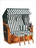 Strandkorb Binz XL (132cm Breit) in Grün -fertig Montiert- als Ostseemodell Sofort nutzbar für Ihr zu Hause