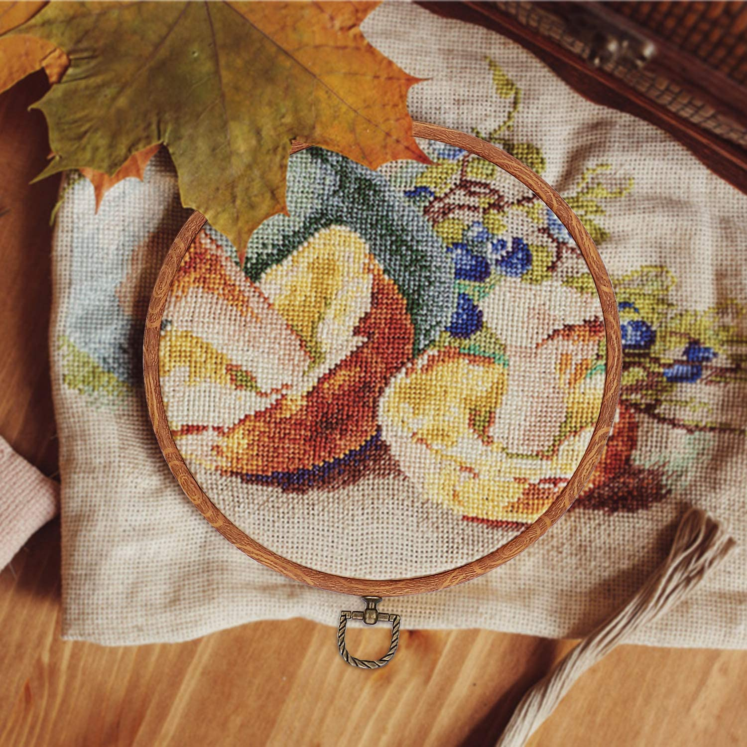 Useekoo Embroidery Hoops,Rubber Plastic Cross Stitch Hoop Set,Embroidery Kit for Sewing//Art//Hanging//Craft,4pcs