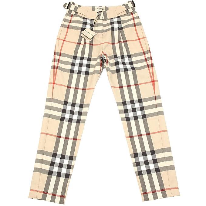 3425H pantaloni bimba BURBERRY check pantalone trousers pants kids [8 ANNI]