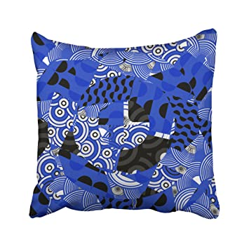 Amazoncom Kutita 20 X 20 Inch Throw Pillow Coverscobalt Blue