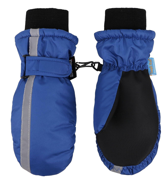 SimpliKids Kid's 3M Thinsulate Water & Snow Resistant Winter Ski Mitten Gloves