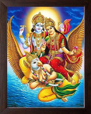 Art N Store Lord Vishnu And Goddess Lakshmi Mount On Garuda Hd