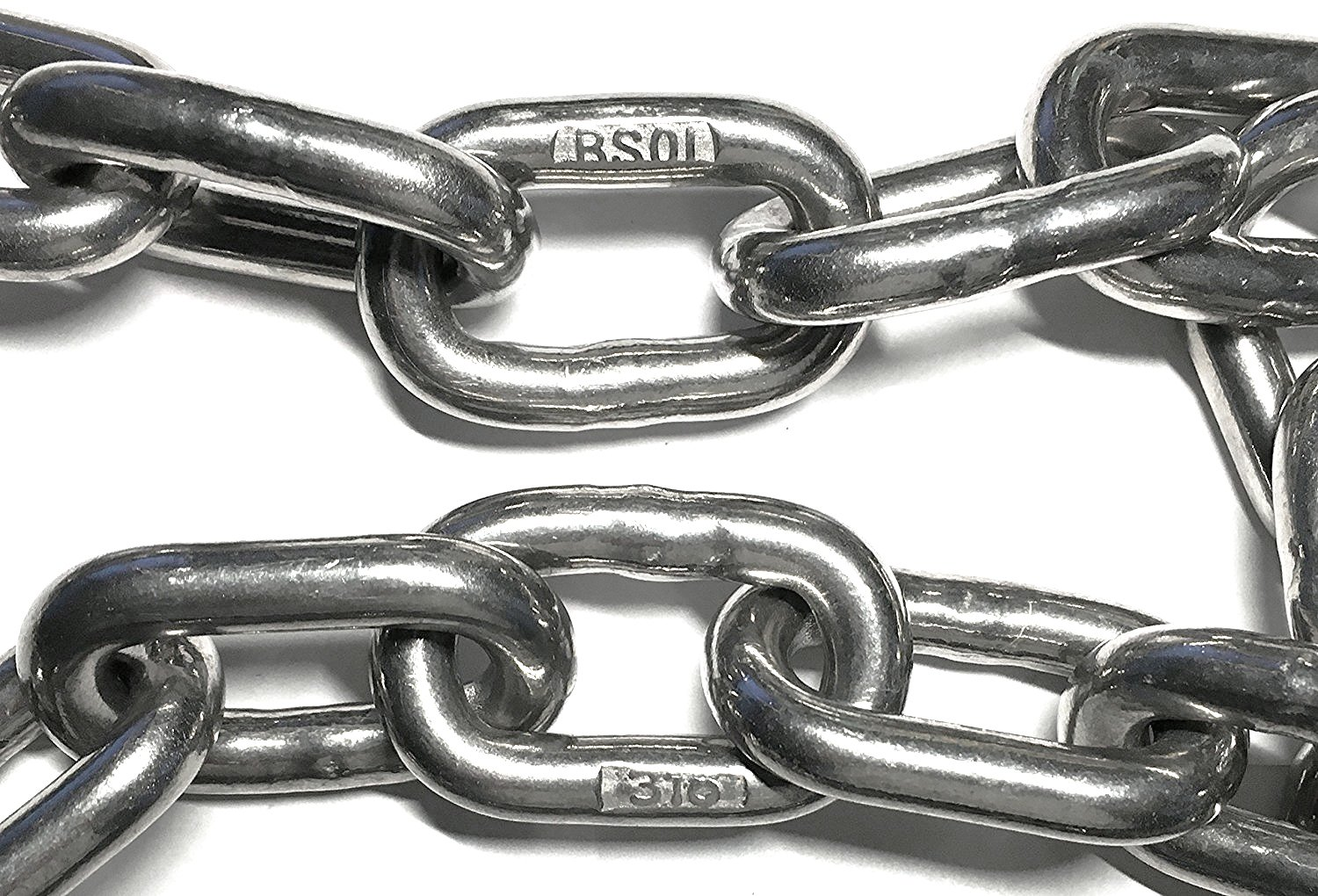 Stainless Steel 316 Chain 3/8'' (10mm) Proof Coil Chain (by the foot)