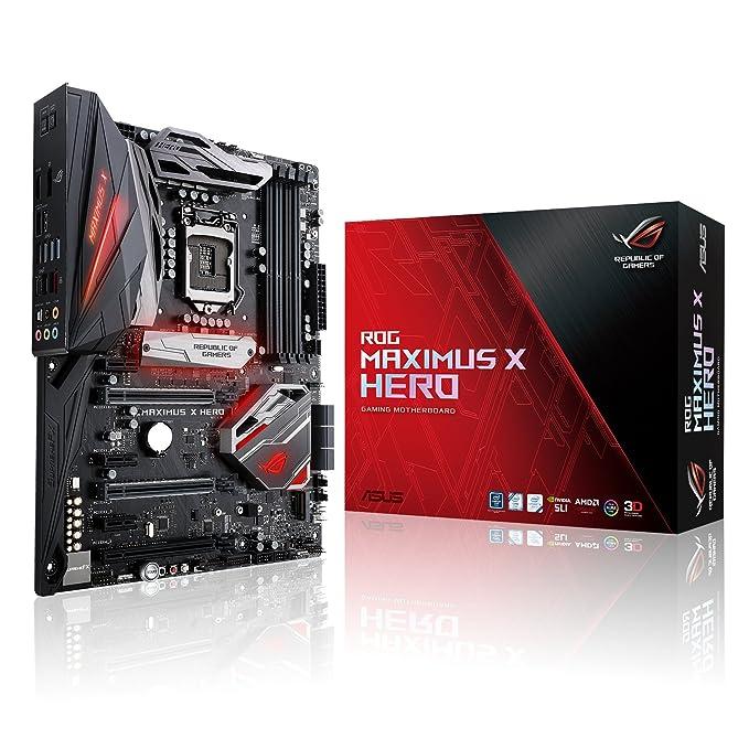 ASUS ROG Maximus X Hero Z370 ATX Gaming Motherboard Motherboards at amazon