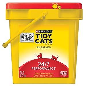 Purina Tidy Cats 24/7 Performance Clumping Cat Litter - 27 lb. Pail