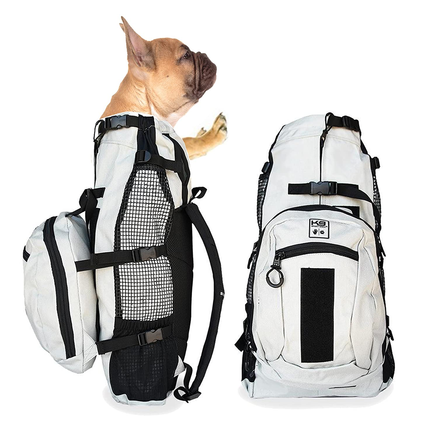 K9 Sport Sack AIR PLUS | Dog Carrier Backpack For Small and Medium Pets | Front Facing Adjustable Pack With Storage Bag | Fully Ventilated | Veterinarian Approved