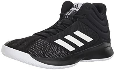 adidas Men s Pro Spark 2018 Basketball Shoe Black White Grey 8 ... d5b8ce9869