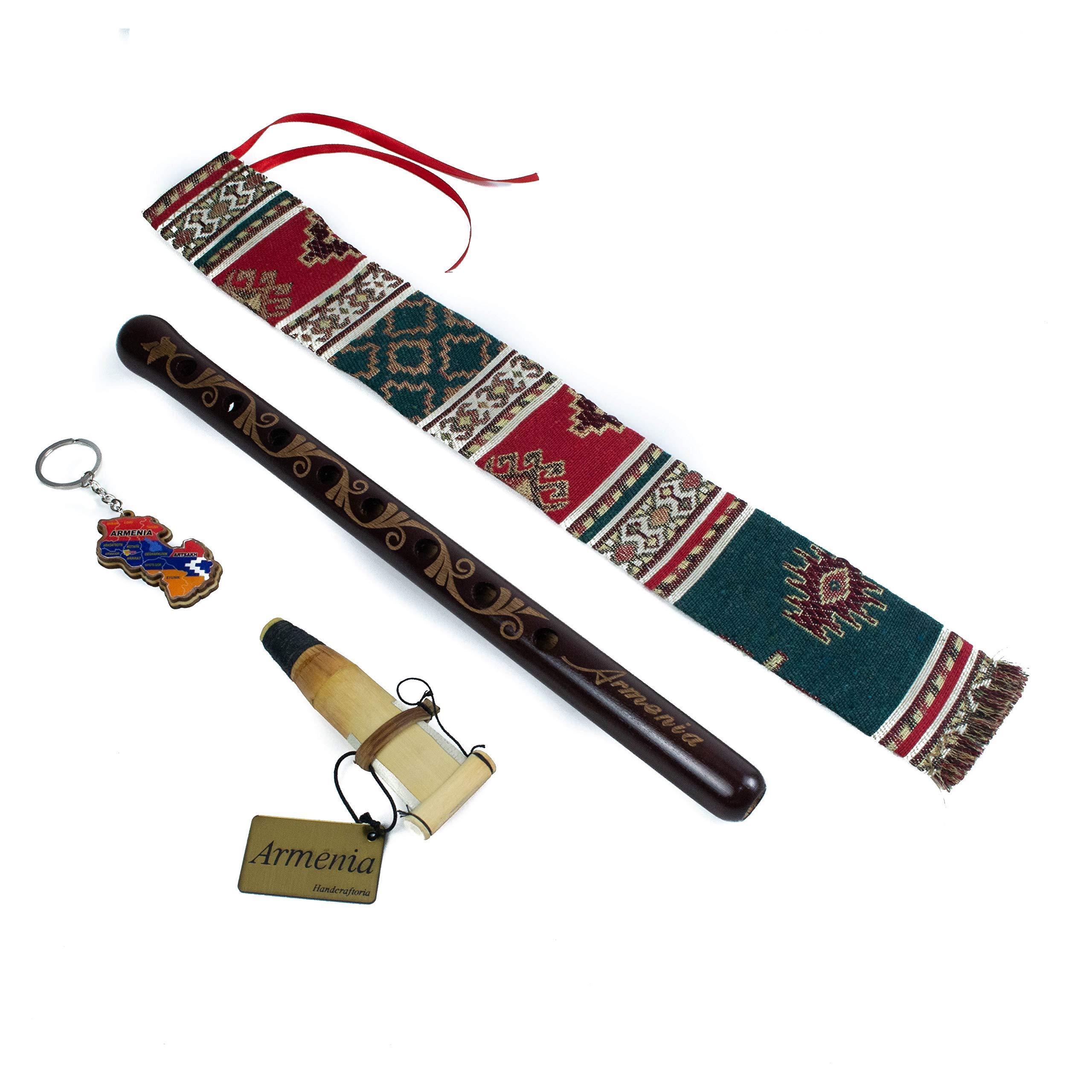 Armenian DUDUK Handmade From ARMENIA - Apricot Wood Semi-Professional Woodwind Instrument - Oboe Balaban - Gift Playing Instruction and national case
