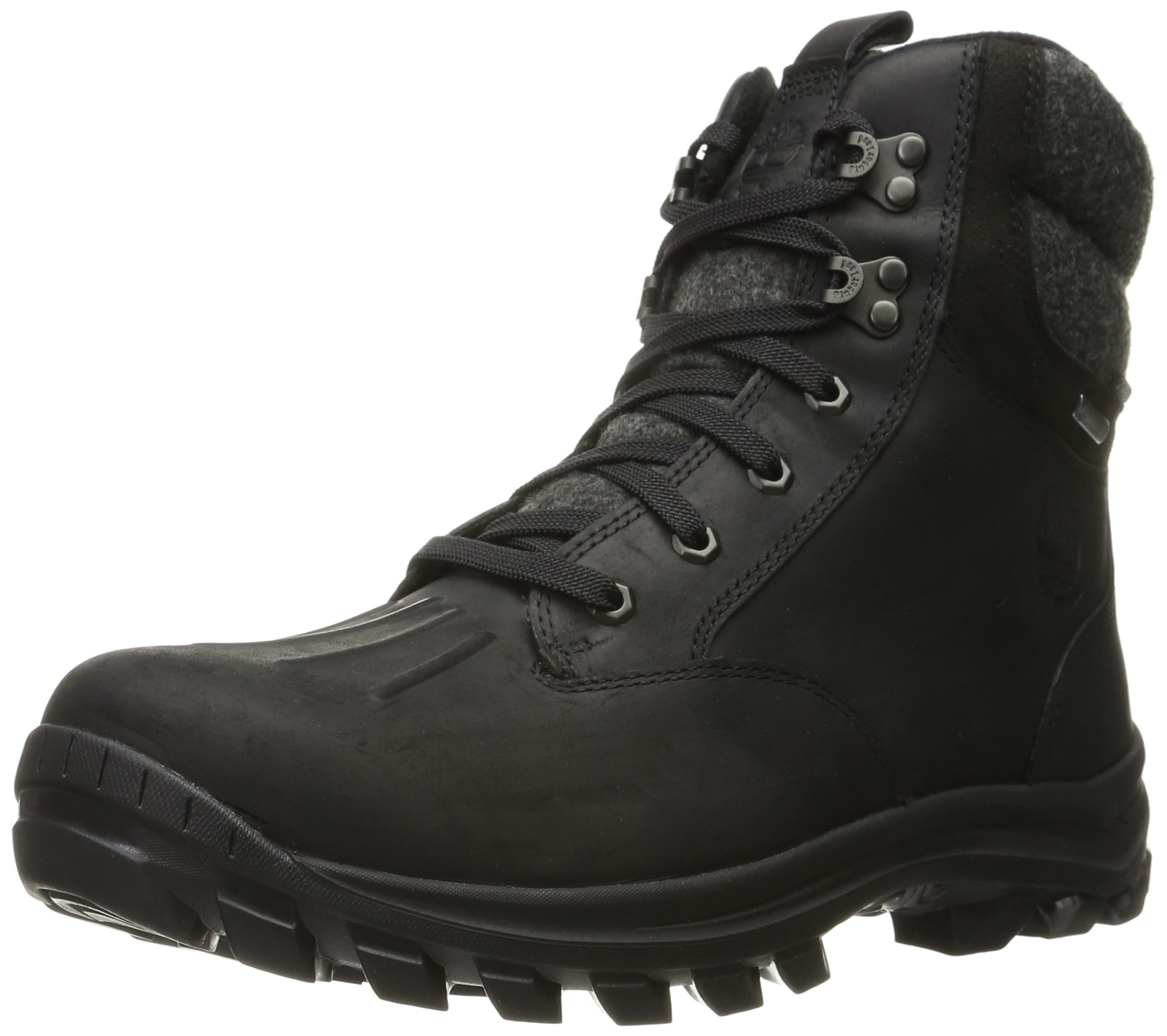 Timberland Men's Chillberg Mid Waterproof Insulated Snow Boot, Black Connection Full Grain, 10 M US by Timberland