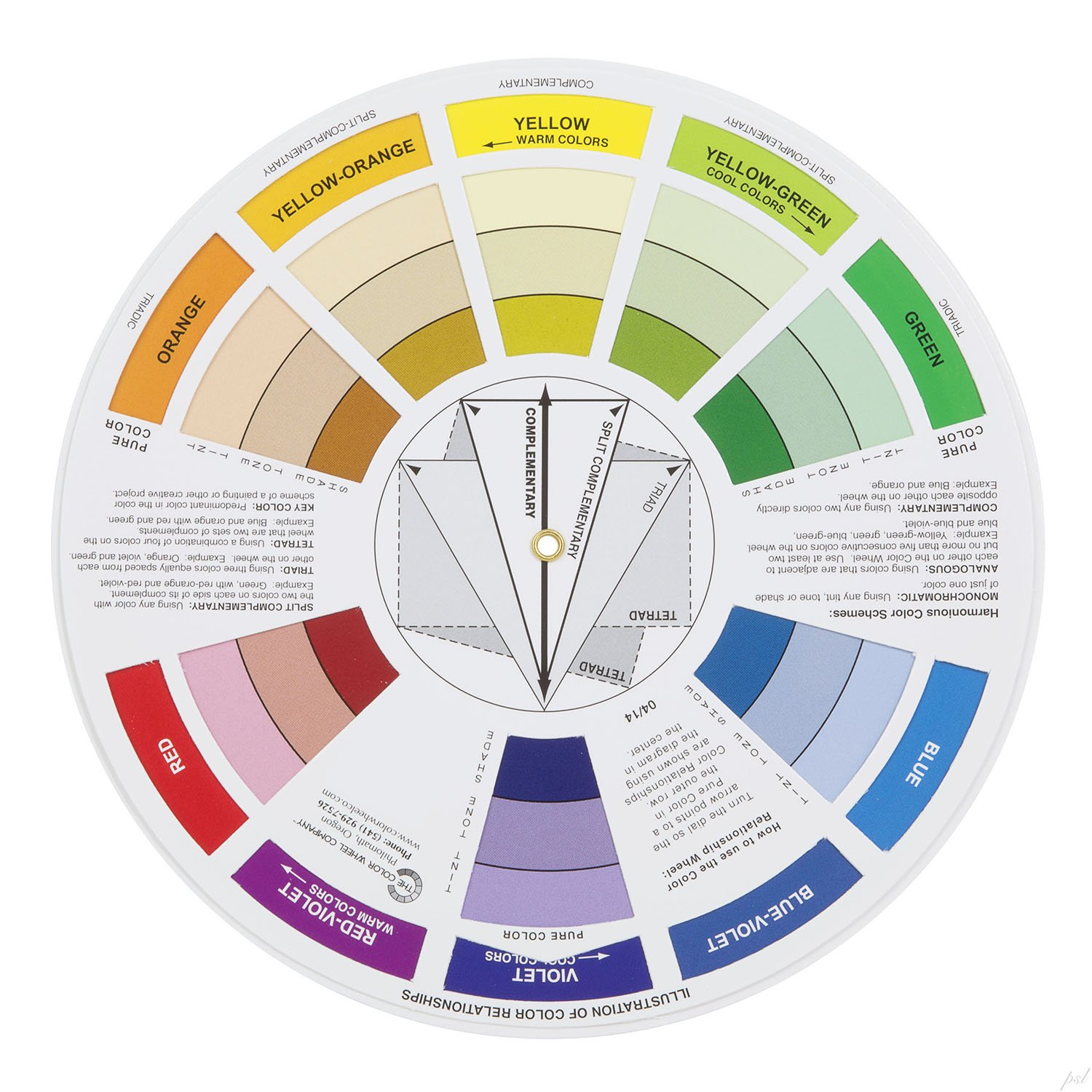Color circle art publishing - Amazon Com Color Wheel Pocket Guide With Gray Scale Value Finder For Both The Amateur And Professional Artists