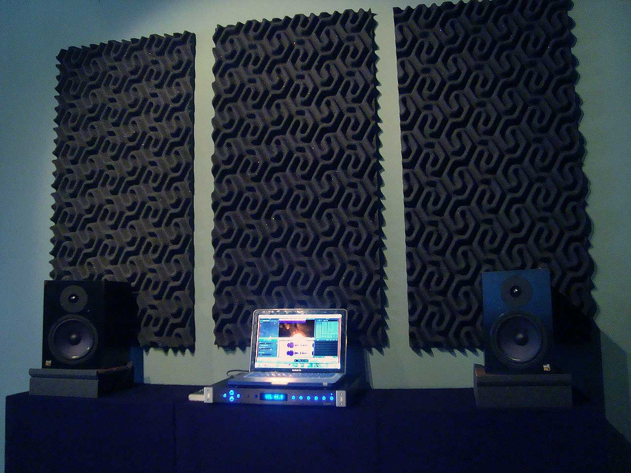 2'' SoundTraxLG PRO Studio Acoustic Foam 96 sf - Charcoal
