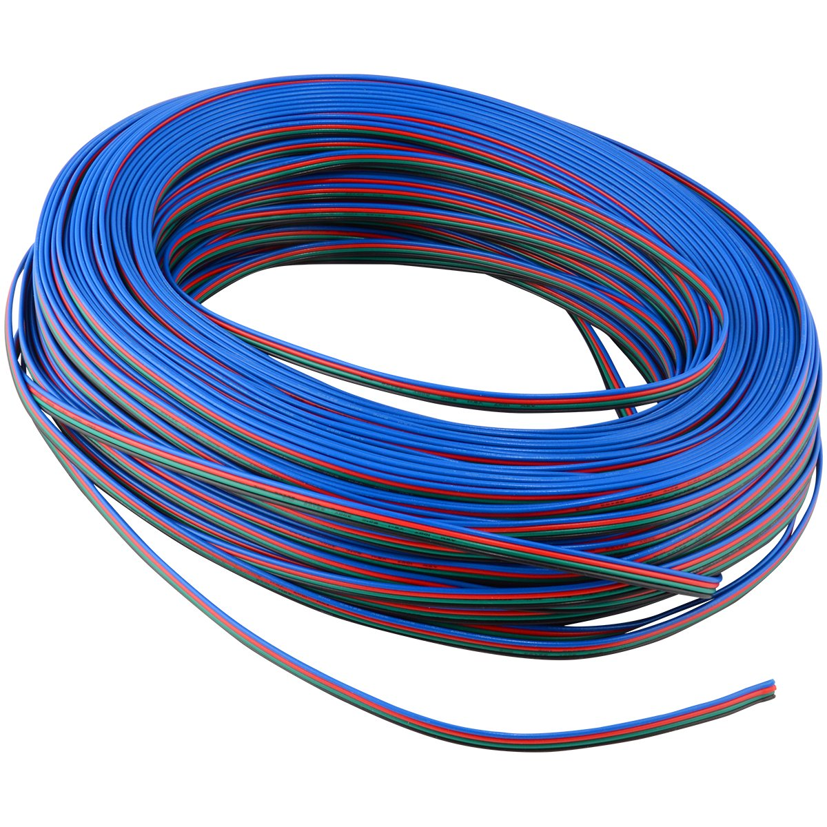 Four Conductor Wire for RGB LED Strip Light, Cut to Order (3 Feet/1 Meter)