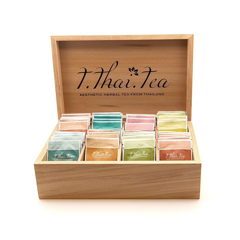 Amazoncom 8 Slots Wooden Box Of Assorted Herbal Tea Set Grocery