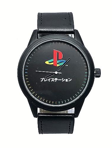 con Licencia Oficial de Sony PlayStation Logo Black Strap Reloj de Pulsera: Amazon.es: Relojes