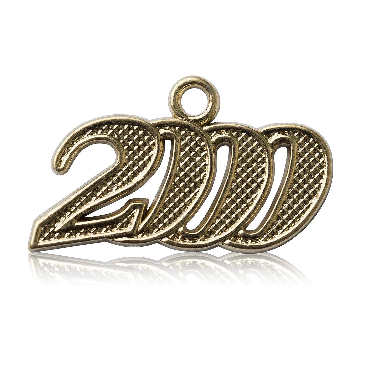 Year 2000 Gold Drop Date Signet for Graduation Tassel Class Act Graduation