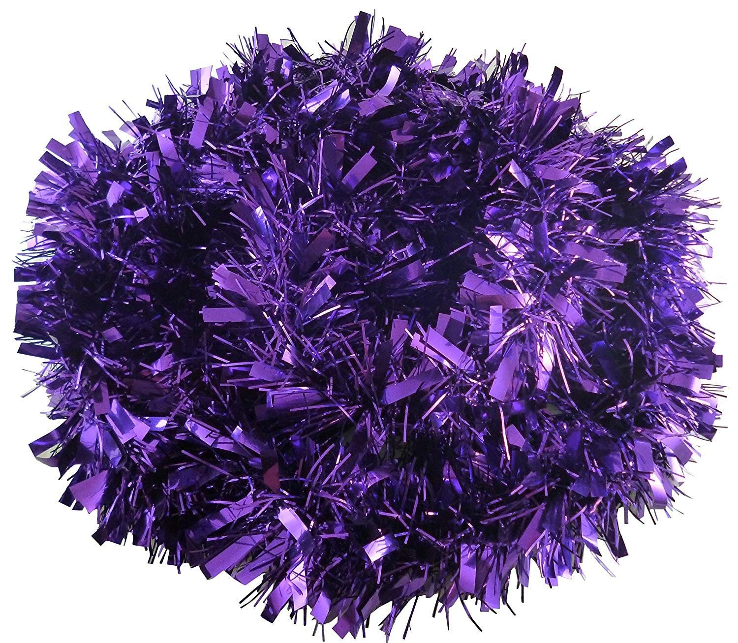 Blue Luxury Deluxe Chunky Christmas Tinsel Garland Tree Decoration 120mm Width Shatchi