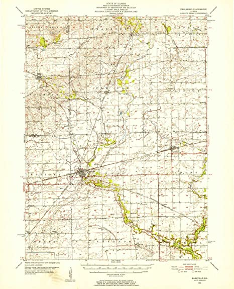 Amazon Com Yellowmaps Earlville Il Topo Map 1 62500 Scale 15 X 15