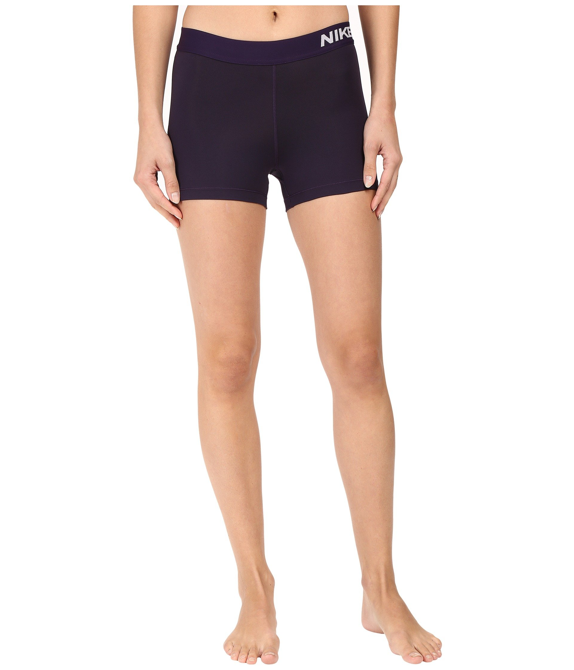 Nike Women's Pro Cool 3-Inch Training Shorts (Purple Dynasty/Bleached Lilac/X-Small)