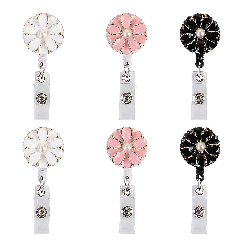 Shiny Diamonds Retractable Lanyards Key Ring Badge Holder Nurse ID Name Card
