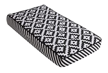 black minky dot baby set Black stripe boppy cover and changing pad cover set