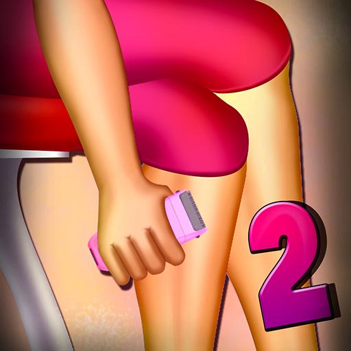 Women Leg Shaving 2 : The Soft Skin Shave Girl Beauty Spa Time - Gold - Hair Gel Shaving