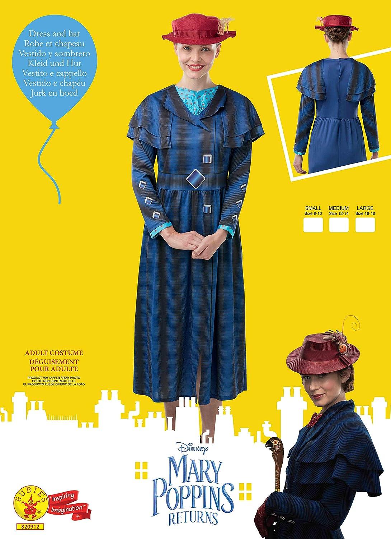 Disfraz de Mary Poppins para mujer, Talla M adulto (Rubies 820912 ...