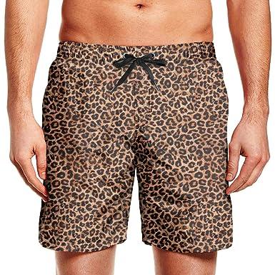 Leopard Brown Trunks Cheetah Swim Classic Fredeyi Beach Mens Print qSUpVzM