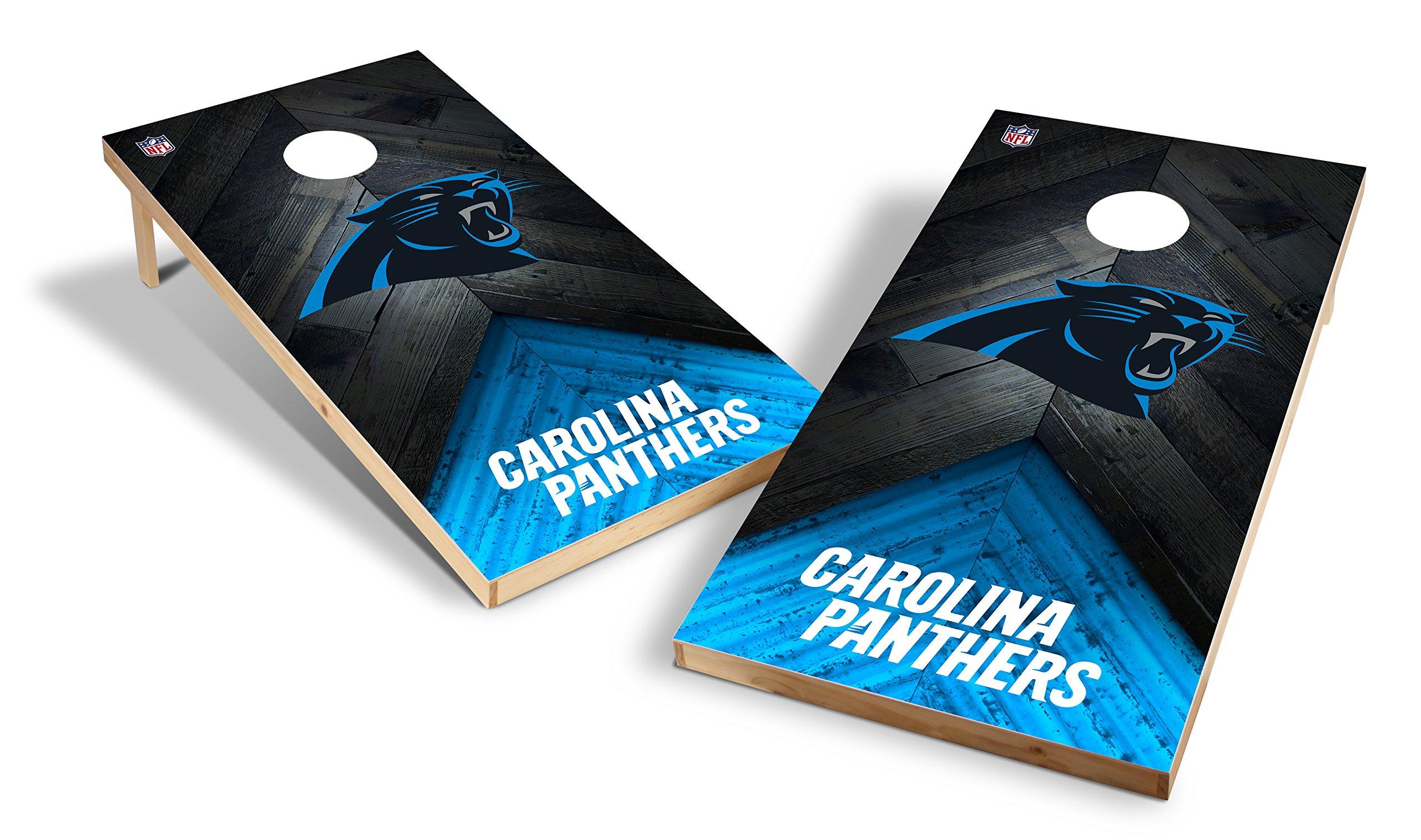 Wild Sports NFL 2'x4' Carolina Panthers Cornhole Set
