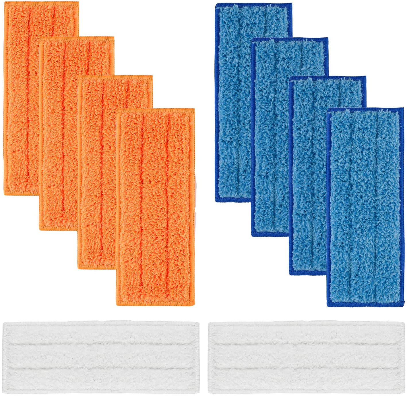 MXZONE Replacement 10 Packs Washable Mopping Pads Wet Damp Dry Sweeping Pads for iRobot Braava Jet 240 241