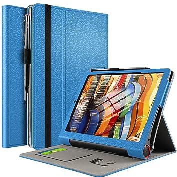 IVSO Funda Carcasa para Lenovo Yoga Smart Tab, Slim PU Protectora Carcasa Cover para Lenovo Yoga Smart Tab 10.1 Pulgadas, Azul