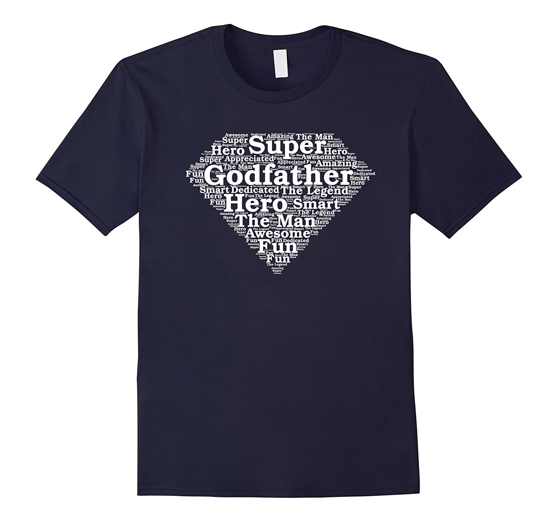 Mens Godfather Gift Superhero Shirt-TH