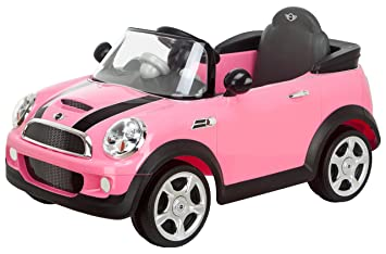 kid trax mini cooper 6v ride on pink