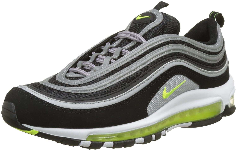 Nike Herren Air Max 97 Sneaker  45.5 EU|Schwarz (Black/Volt-metallic Silver-white)