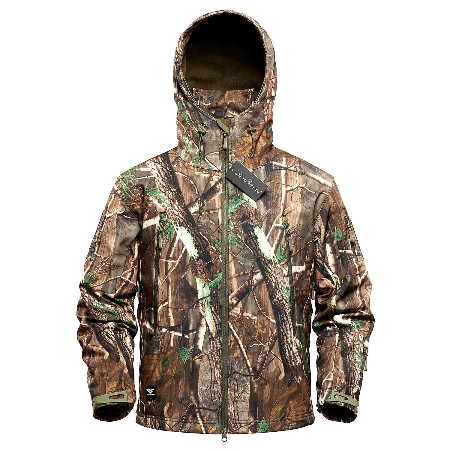 NEW VIEW Hunting Jackets Waterproof Hunting Camouflage Hoodie for Men by NEW VIEW
