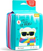 Fit + Fresh Cool Coolers Slim Ice Packs, Reusable Ice Packs