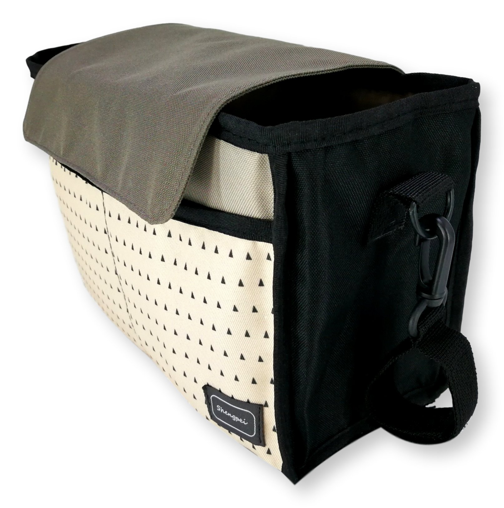 My FL Universal Baby Stroller Organizer Bottle Cloth Diapers Holder Hanging Storage Bag (Black Triangle) by my FL (Image #3)