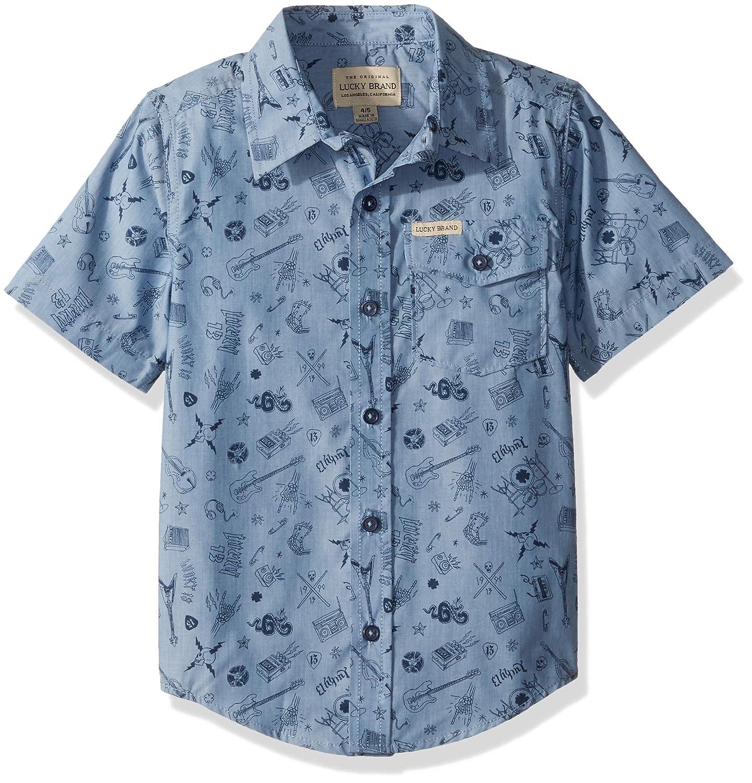 Lucky Brand Boys' Short Sleeve Denim Shirt