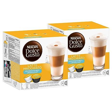 Amazon.com: Nescafé Dolce Gusto Latte Macchiato Unsweetened ...