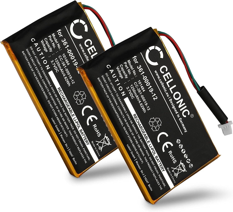 Edge 705 361-00019-12 1250mAh accu Ricambio Sostituzione CELLONIC 2X Batteria Premium Compatibile con Garmin Edge 605