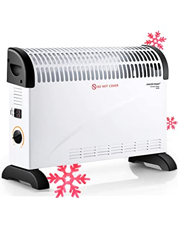 DONYER POWER Convector Radiator Heater with Adjustable Thermostat/Adjustable 3 Heat Settings (750/1250 / 2000 W) / Electrical/Convection Heating/Oil-Free Radiator